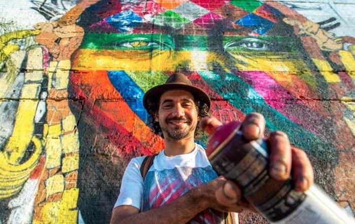 Известнейший муралист современности - Эдуардо Кобра