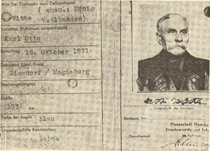 Паспорт самозванца Отто Витте