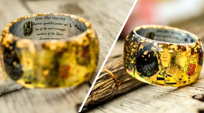 Оригинальный браслет по мотивам картины Густава Климта