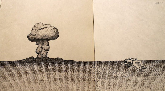Рисунки на печатной машинке от Пабло Гамбоа Сантос (Pablo Gamboa Santos)
