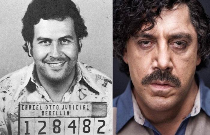 Фотография главы Медельинского накокартеля и Хавьер Бардем в образе Пабло Эскобара.