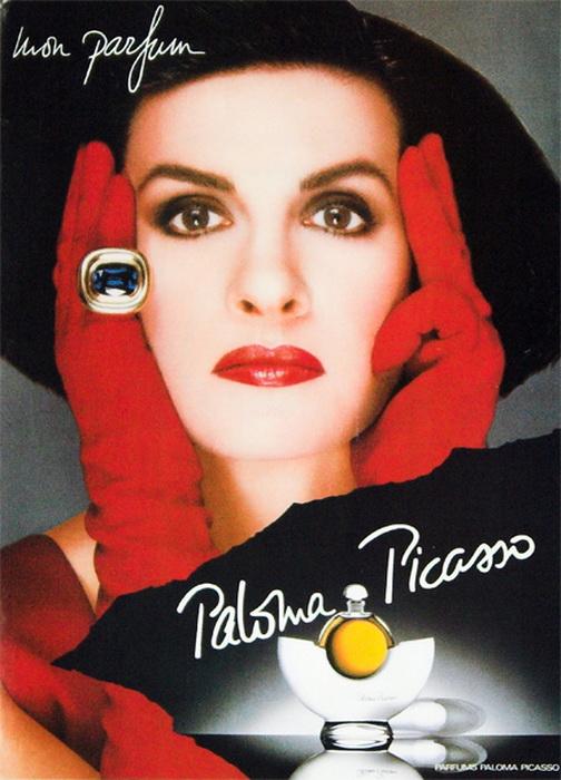 Рекламный постер духов Паломы Пикассо. Фото: fless.ru
