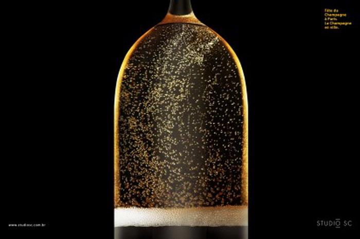 Реклама для Фестиваля шампанских вин в Париже. Триумфальная арка