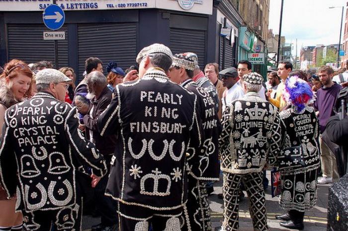 Жемчужные короли и королевы на улицах Лондона