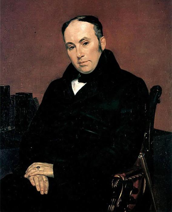 К.Брюллов. Портрет В.А.Жуковского, 1937