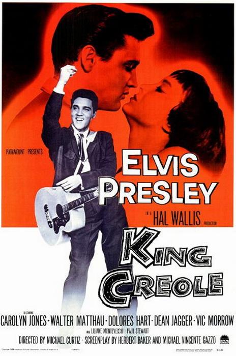 Элвис Пресли и съемки фильма *Король Креоле*.