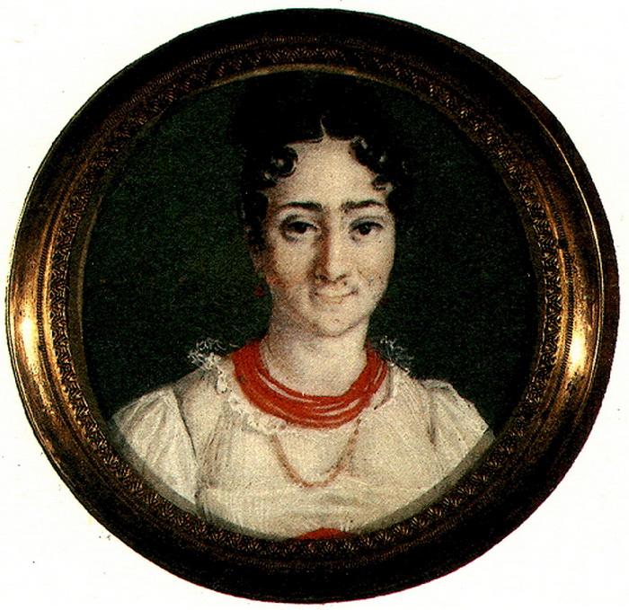 Портрет Надежды Пушкиной, неизвестный художник, 1820-е годы