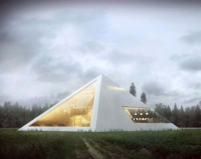 Дом-пирамида от архитектора Хуана Карлоса Рамоса (Juan Carlos Ramos)