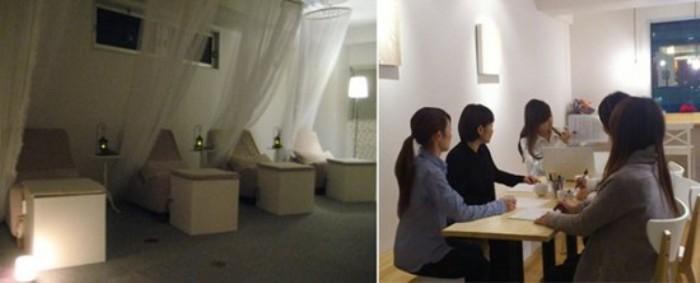 Quska Sleeping Cafe - японское женское кафе для сна