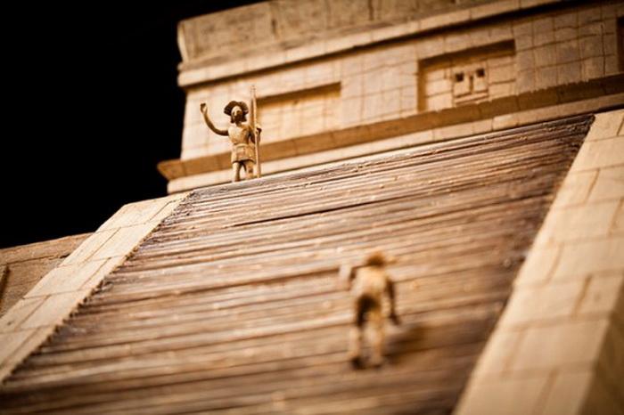 Шоколадная пирамида  - точная копия храма Майя