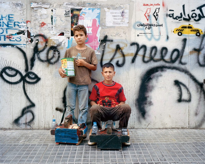 Портреты Мохаммеда (7 лет) и  Ассаада (12 лет), Бейрут, 2014 год