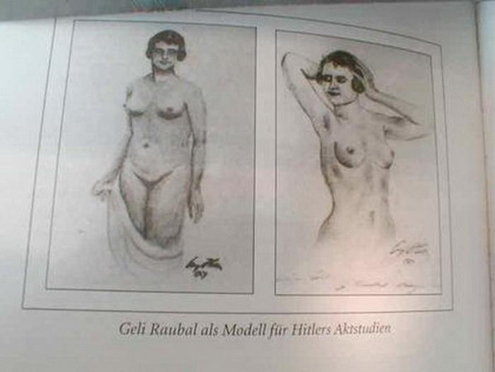 Гели Раубаль. Рисунки Адольфа Гитлера