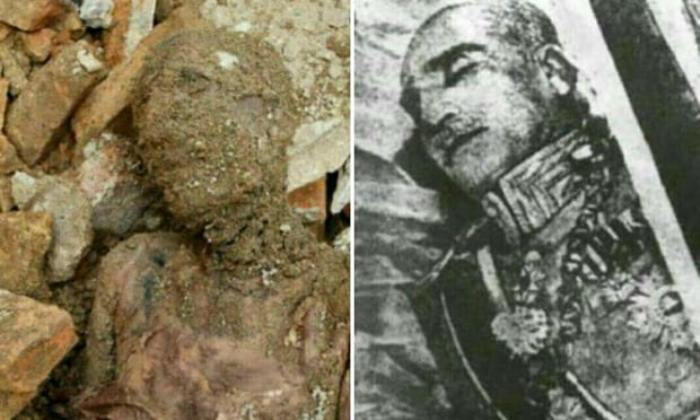 Обнаруженная мумия и тело Резы Пехлеви.