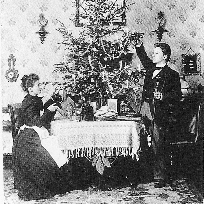 1900 год. Первая новогодняя фотография Анны и Рихарда Вагнер