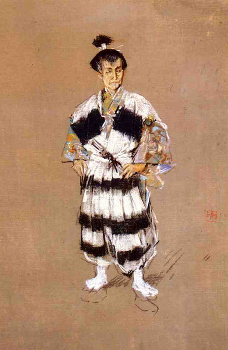 Картины Роберта Фредерика Блюма о жизни в Токио