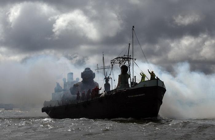 *Морская Одиссея* от Royal de Luxe в Ливерпуле