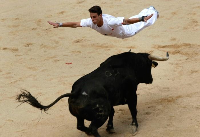 После энсьерро быки принимают участие в корриде