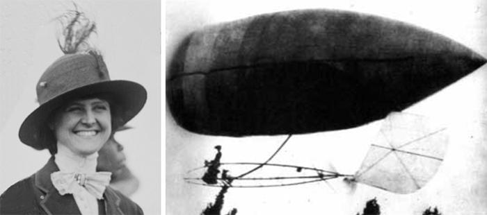 Аида де Акосте - единственный человек, которому Альберто Сантос-Дюмон доверил управление своим летательным аппаратом.
