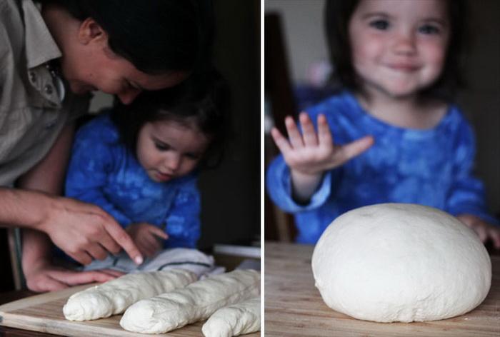 Совместное приготовление артизанского хлеба, Франция