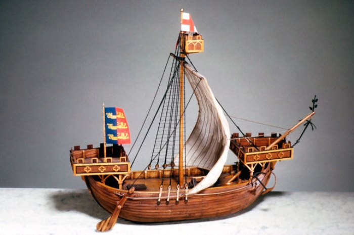Модель корабля, на котором Александр Селкирк отправился в роковое путешествие