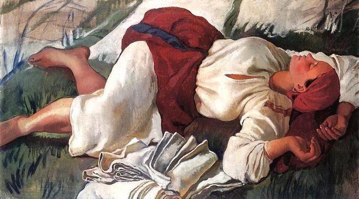 Спящая крестьянка