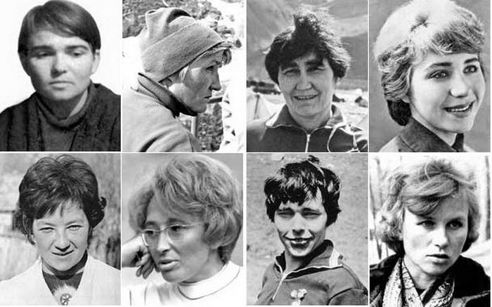 Участницы экспедиции к пику Ленина