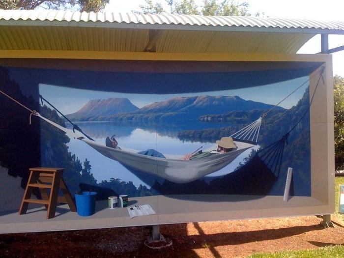 Разрисованные дома австралийского города Шеффилд