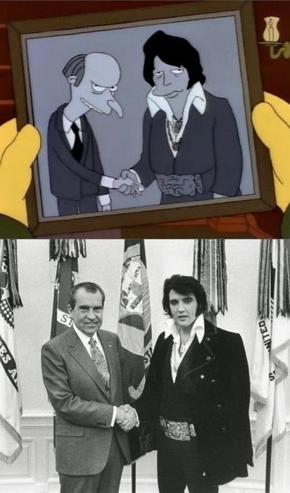 Пародия на встречу американского президента Ричарда Никсона с Элвисом Пресли