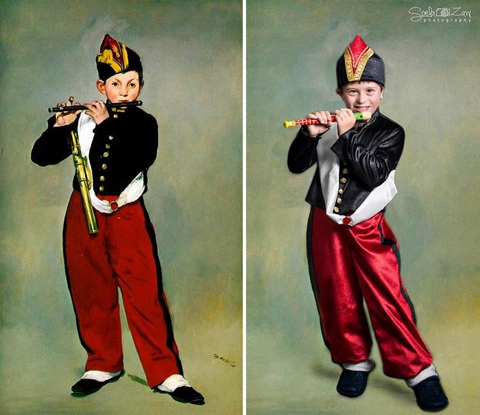 Полковой флейтист, Моне. Фотореконструкция от Soela Zani
