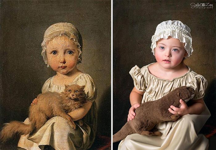 Gabrielle Arnault as a child,  Бойли Луис-Леопольд. Фотореконструкция от Soela Zani