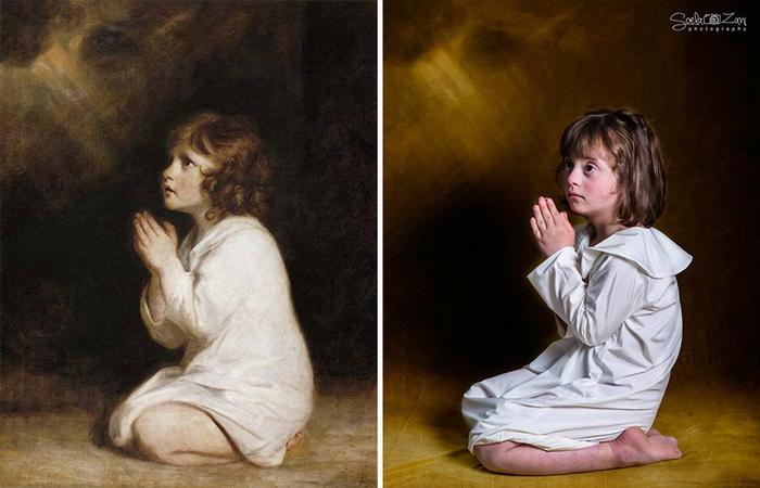 The Infant Samuel, Джошуа Рейнольдс. Фотореконструкция от Soela Zani