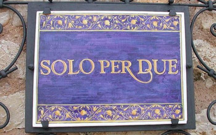 """""""Solo Per Due"""" - самый маленький ресторан в мире"""