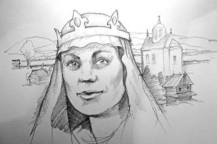 Реконструкция, как могла бы выглядеть княжна София.