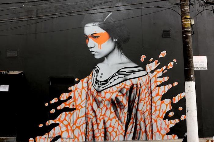 Splash: оригинальные граффити на улицах Сан-Паулу