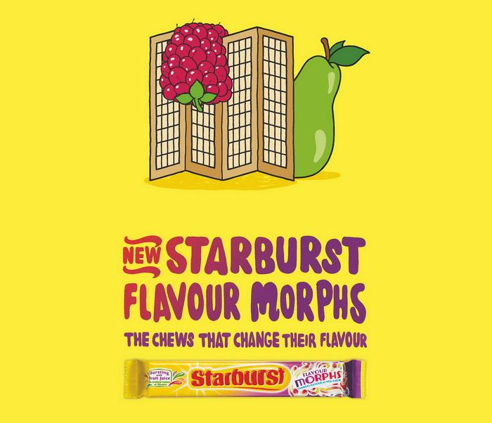 Реклама жевательной резинки Starburst