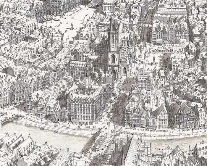 Урбанистические пейзажи от Стефана Бликроуда (Stefan Bleekrode): город в Бельгии