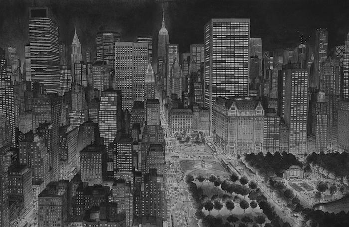 Урбанистические пейзажи от Стефана Бликроуда (Stefan Bleekrode): Нью-Йорк ночью