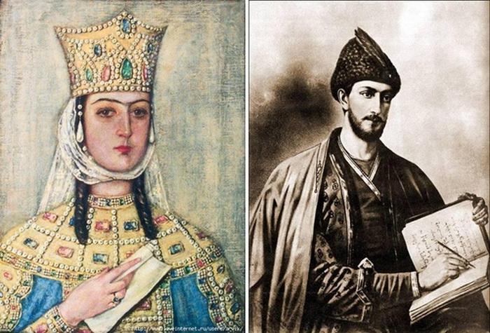 Царица Тамар и поэт Шота Руставели.