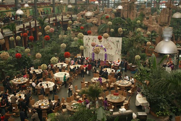 Tang Dousheng State Park - огромный экопарк-ресторан в Китае