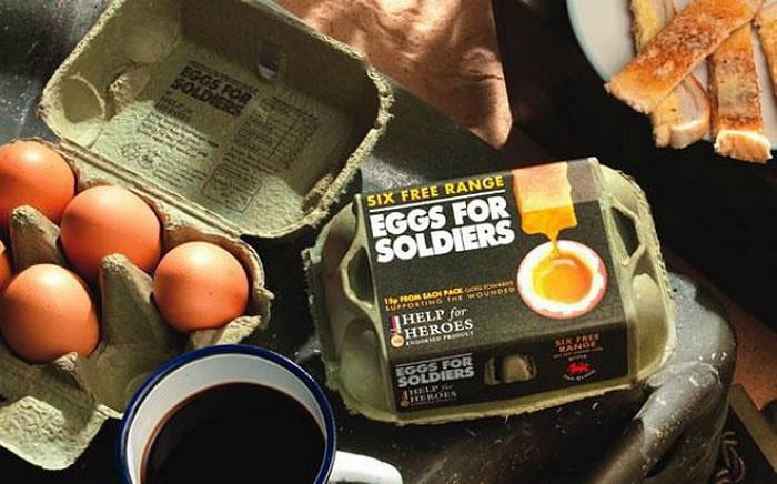 """Упаковка яиц """"Eggs for Soldiers"""""""
