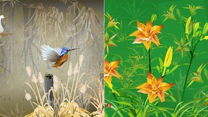 Tatsuo Horiuchi создает картины в стиле традиционного японского искусства