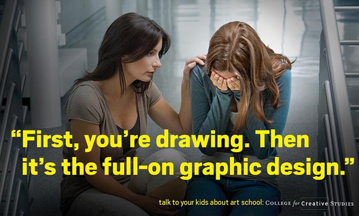 College for Creative Studies: *Все начинается с того, что ты просто рисуешь. В итоге это заканчивается полноценным графическим дизайном*