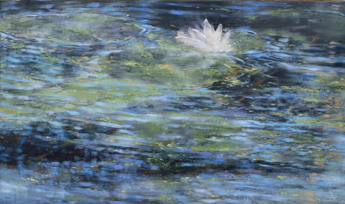 Картина Тери Мало в традициях *Кувшинок* Клода Моне