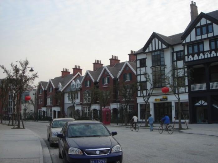 Английский город Thames Town в Шанхае