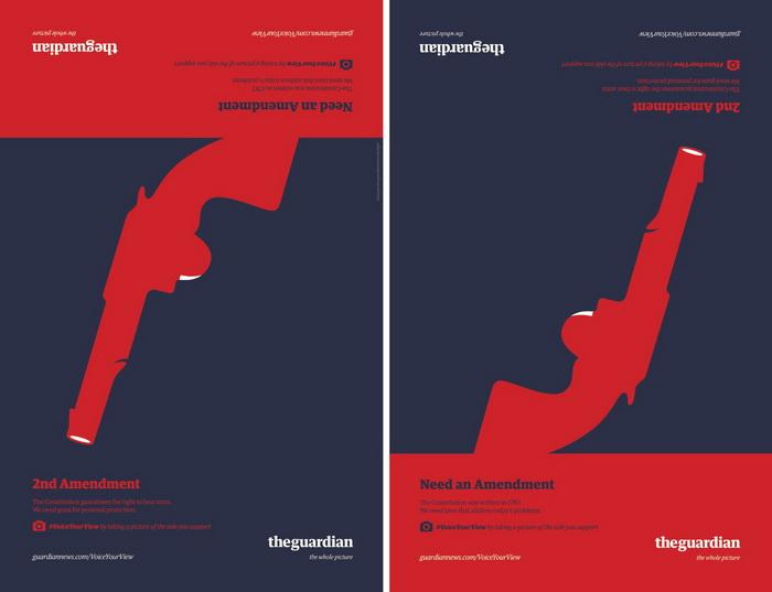 Серия рекламных плакатов издания The Guardian