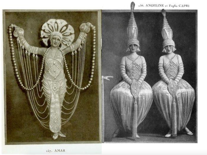 Костюмы танцовщиц из кабаре Фоли-Бержер, Париж, 1924 г.