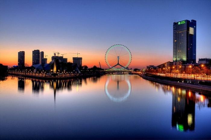 Удовольствие 2 в 1: Tianjin Eye Bridge - красивейший мост со 120-метровым колесом обозрения