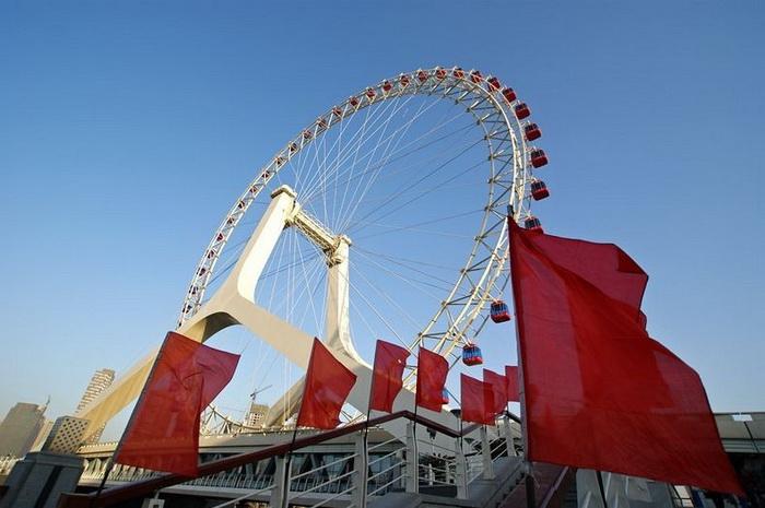 Удовольствие 2 в 1: Tianjin Eye Bridge  красивейший мост со 120-метровым колесом обозрения