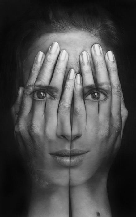 Портреты-иллюзии от Tigran Tsitoghdzyan