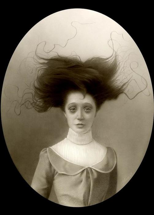 Жутковатые портреты от Travis Louie